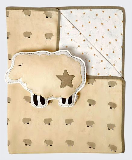 Masilo Counting Sheep Tuck Me In Gift Bundle with Organic Baby Dohar Blanket