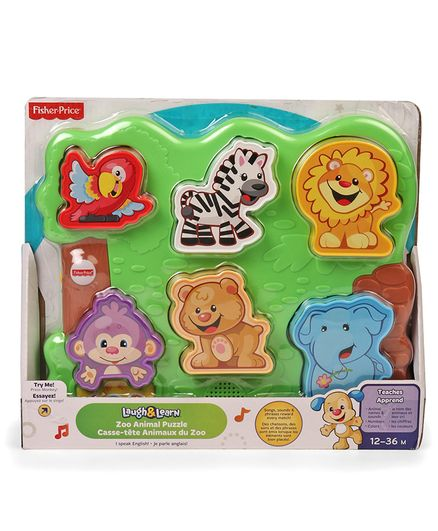 Fisher Price Laugh & Learn Zoo Animal Puzzle - Green