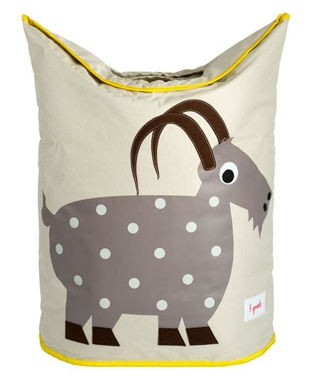 3 Sprouts Laundry Tote Bag Goat Print - Grey
