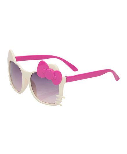 Kidofash Bow Cat Sunglasses - Cream