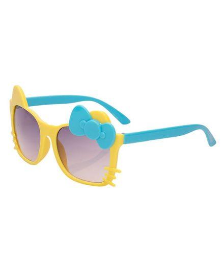 Kidofash Bow Cat Sunglasses - Yellow & Blue