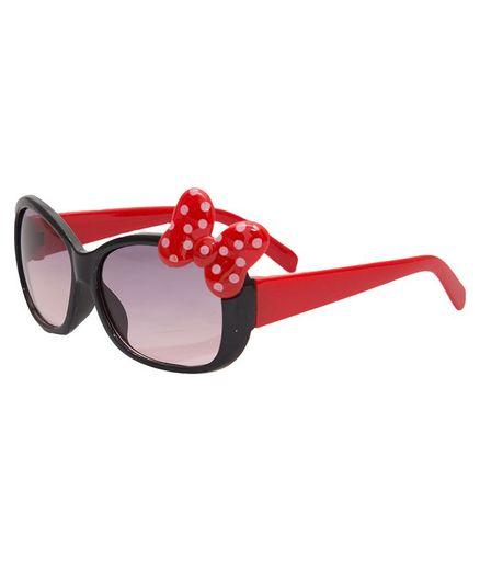 Kidofash Polka Dot Bow Sunglasses - Black