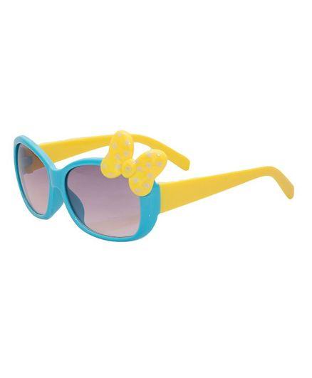 Kidofash Polka Dot Bow Sunglasses - Blue