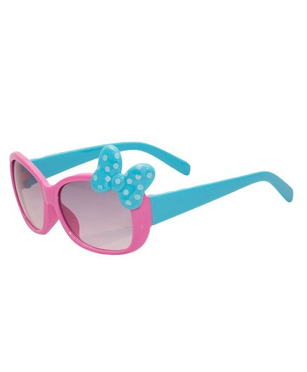 Kidofash Polka Dot Bow Sunglasses - Pink & Blue