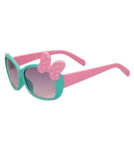 Kidofash Polka Dot Bow Sunglasses - Green
