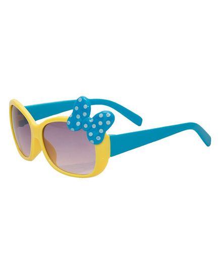 Kidofash Polka Dot Bow Sunglasses - Yellow