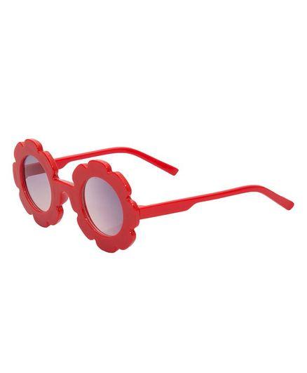 Kidofash Sunflower Design Sunglasses - Red