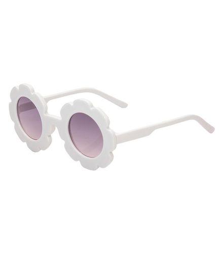 Kidofash Sunflower Design Sunglasses - White