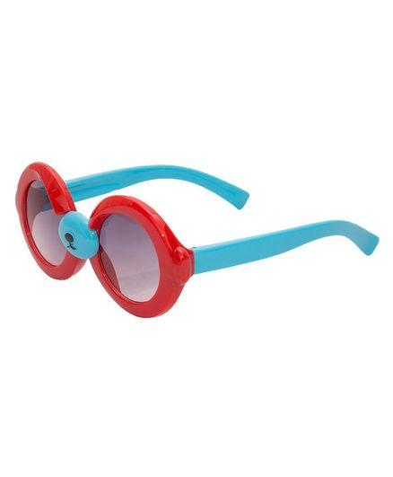 Kidofash Round Sunglasses - Red