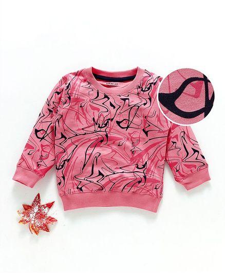 Doreme Full Sleeves Winter Wear Tee Printed - Pink