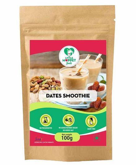 Little Moppet Foods Dates Smoothie - 100 gm