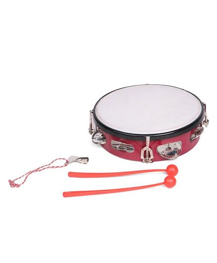 Ratnas Musical Daffli With Two Sticks Junior - Red