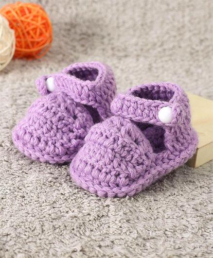 Cute Walk by Babyhug Winter Wear Booties - Purple