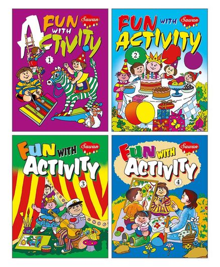 Activity Books Set of 4 - English