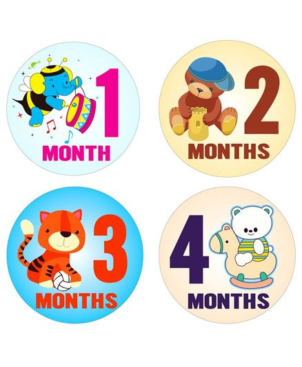Fusion Graphix First Year Baby Milestone Stickers - Multicolor