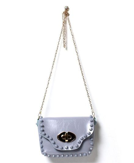 718d4b9fa90 Little Hip Boutique Studded Sling Bag Purple for Girls (3-10 Years ...