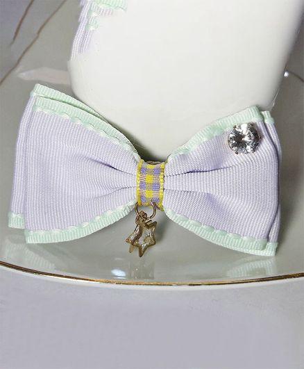 Sugarcart Bow Applique Hair Clip - Purple