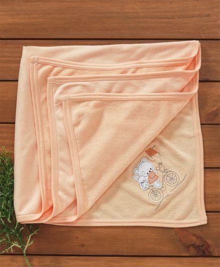Zero Baby Towel Bear Patch - Light Orange