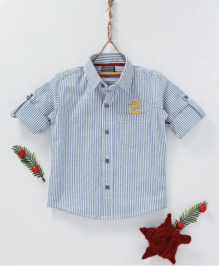 Rikidoos Stripes Full Sleeves Shirt - Blue