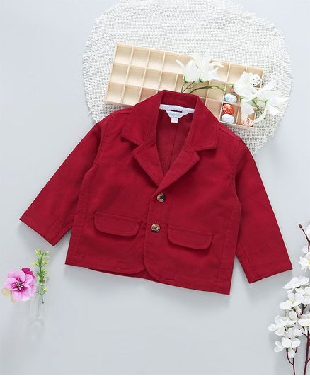 ToffyHouse Party Wear Full Sleeves Jacket - Red