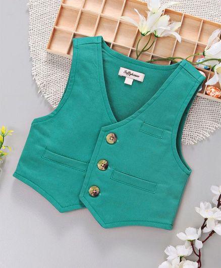 ToffyHouse Party Wear Waistcoat - Sea Green