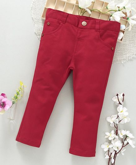 ToffyHouse Full Length Trouser With Pockets - Red