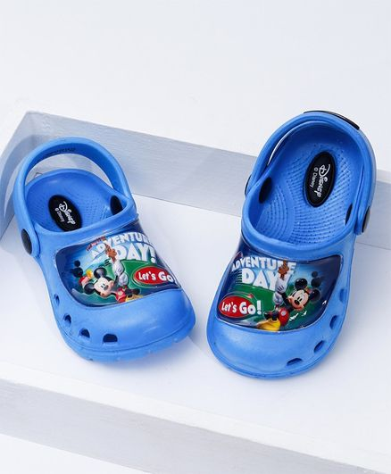 Cute Walk by Babyhug Clogs Mickey Mouse Print - Blue