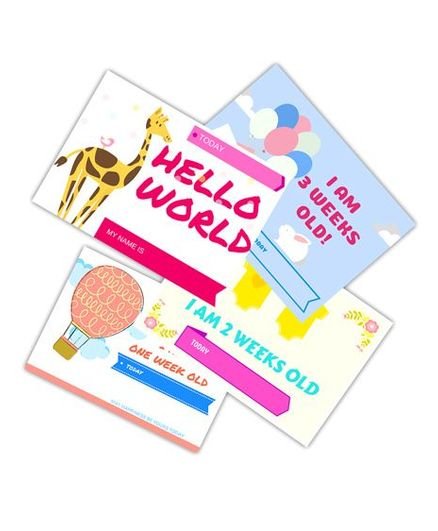 Chipbeys Baby Milestone Cards - Pack of 30