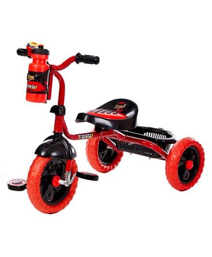 Dash Motocross Stylish Tricycle With Sipper Bottle - Red