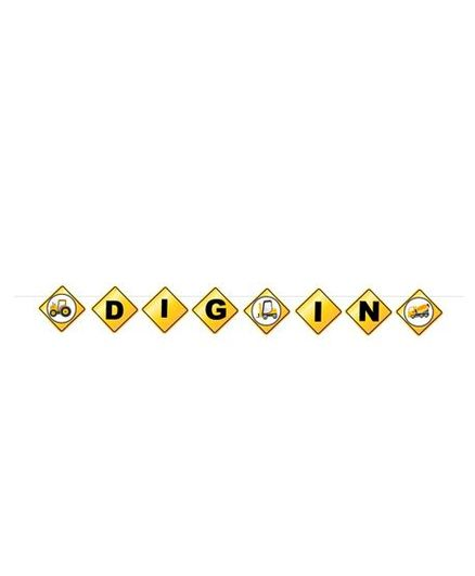 Party Propz Construction Theme Party Banner - Yellow