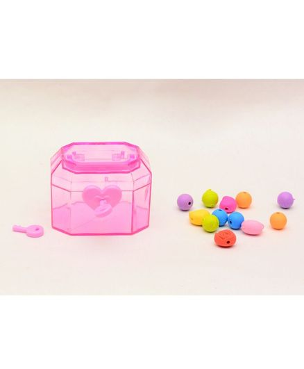 Tipy Tipy Tap Mini Treasure Box With Erasers - Pink