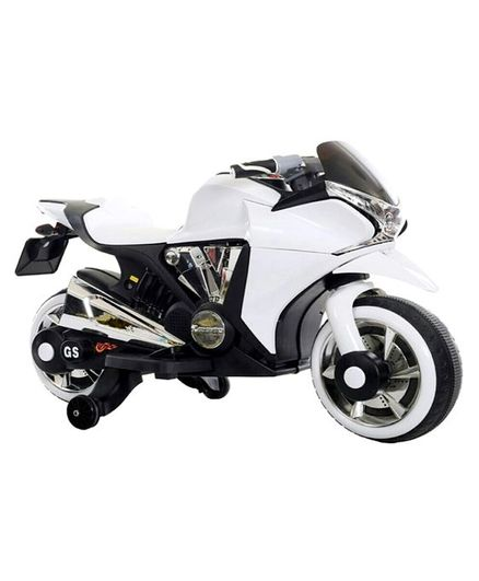 Wheel Power Battery Operated Ride On Bike - White