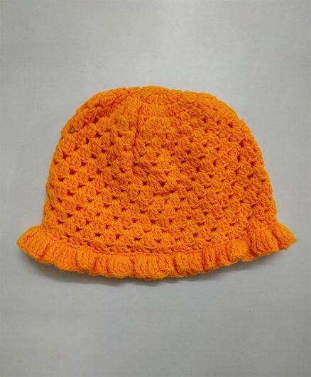 Knit Masters Solid Winter Cap Orange Online in India 4e8d4287fff