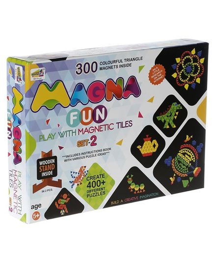 NHR Mansa Ji Fun With Colorful Triangle Magnets - 300 Magnets