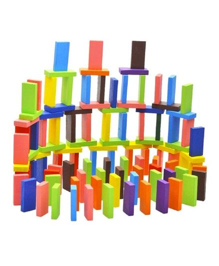 Syga Wooden Standard Competition Domino Multi Color - 120 Pieces