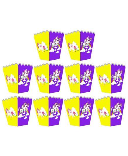 Party Propz Unicorn Popcorn Box Multicolor - 10 Pieces