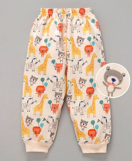 Simply Full Length Lounge Pant Animal Print - Peach