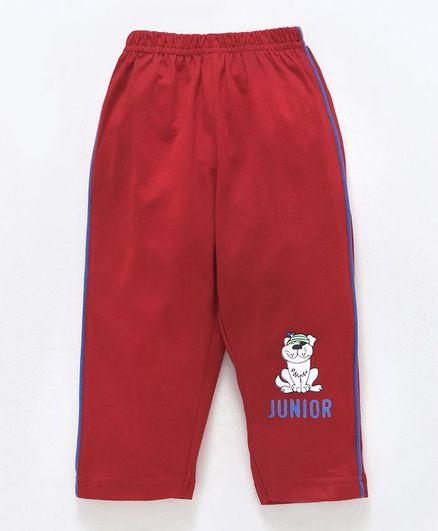 Tango Full Length Track Pant Junior Print - Red