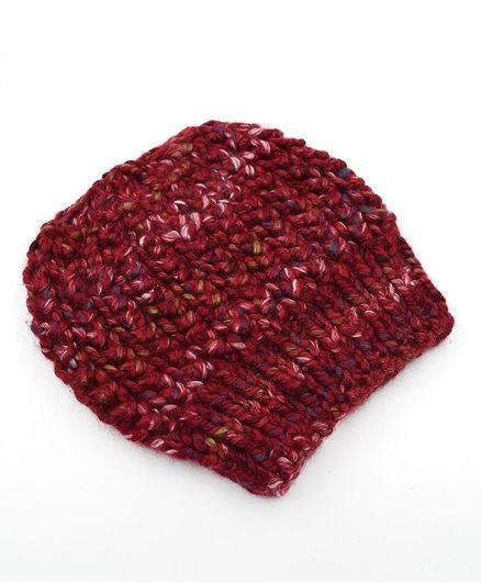 Magic Needles Winter Wear Slouchy Beanie Cap Maroon Online in ... c57a38c205d