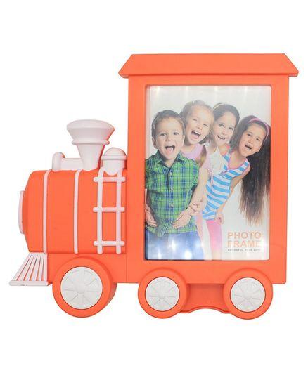 Quirky Monkey Train Shaped Photo Frame - Orange