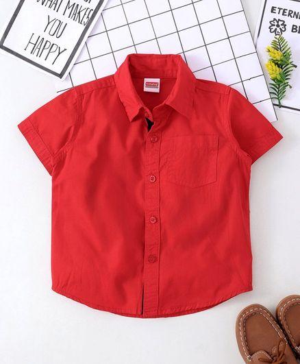 Babyhug Half Sleeves Solid Shirt - Red