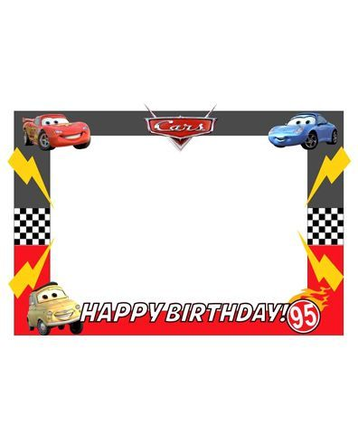 Party Propz Pixar Cars Themed Photo Booth Frame - Multicolour