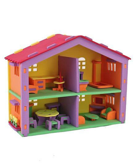 Sunta Diy Eva Doll House Play Set 121 Pieces Online India Buy