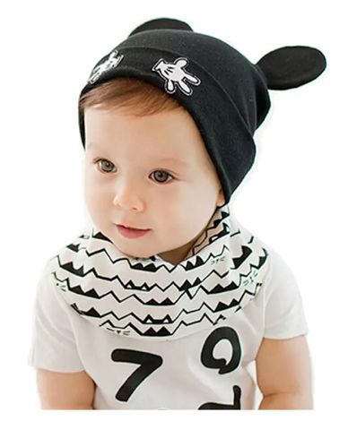 Ziory Cotton Beanie Cap Black Online in India d6c730beb78