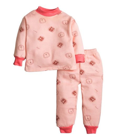 Buy Kidofash Animal Print Night Suit Light Peach for Boys (2-3 Years ... 64b9f1b91