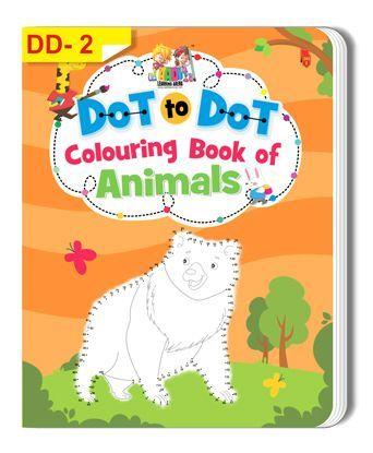 Dot To Dot Animal Colouring Book - English