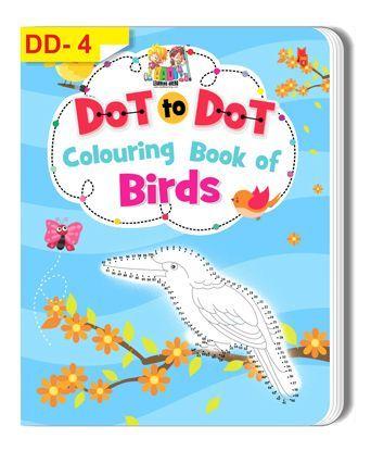 Dot To Dot Colouring Book of Birds - English