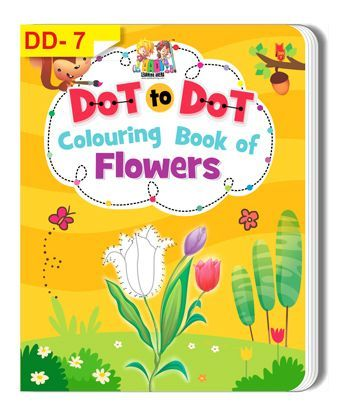 Dot To Dot Colouring Book of Flowers - English