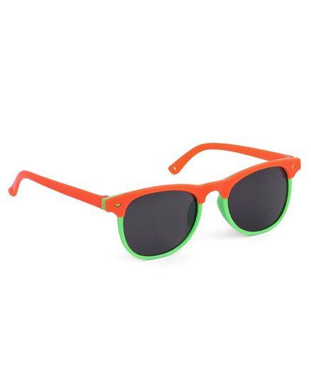 Babyhug Wayfarer Kids Sunglasses - Orange Green