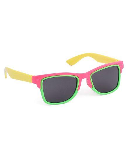 Babyhug Wayfarer Kids Sunglasses - Pink Yellow